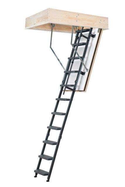 Brandbeständig vindstrappa  REI 45 comfort med stålstege