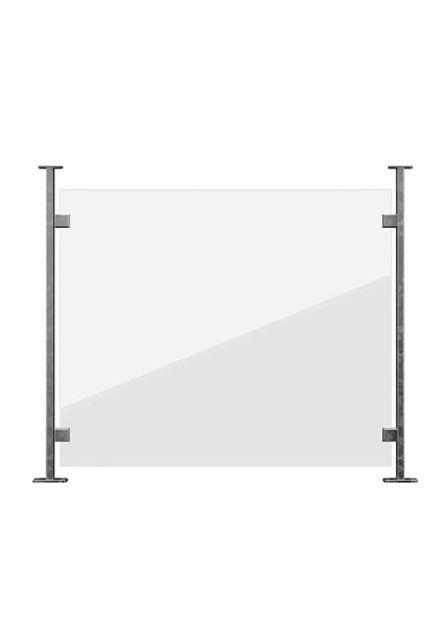 Räcke Nordic med panel i klarglas