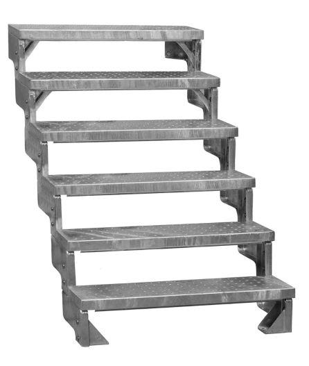 Stål trappor GARDENTOP med halksäkra steg