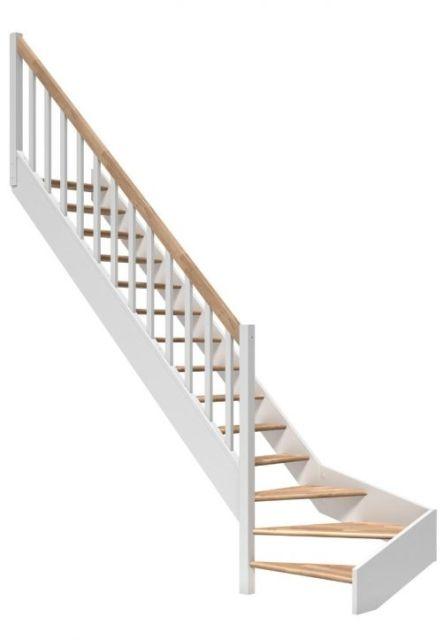 Platsbesparande trappa PARIS Vit lackerad ek
