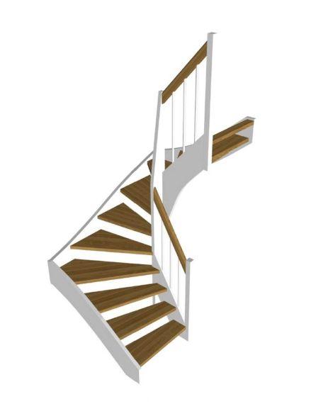 STOCKHOLM eksteg/vit halvsvängd trappa