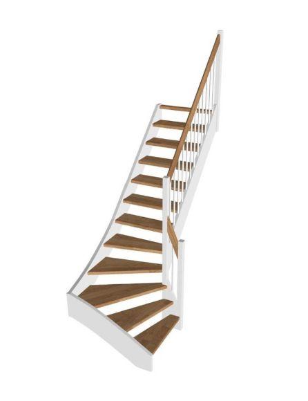 STOCKHOLM eksteg/vit svängd trappa