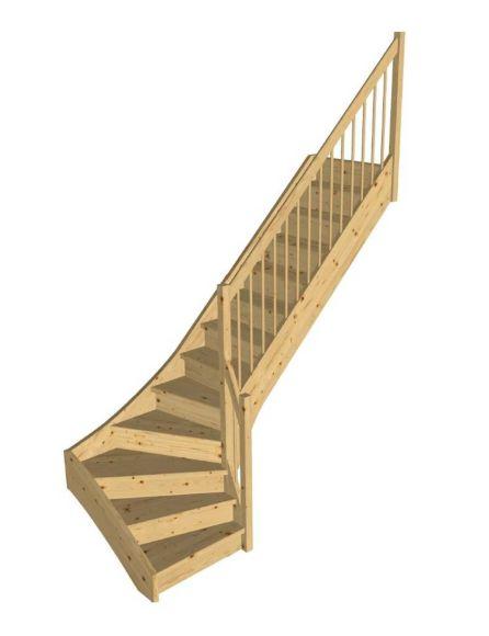 STOCKHOLM furu kvartsvängd trappa